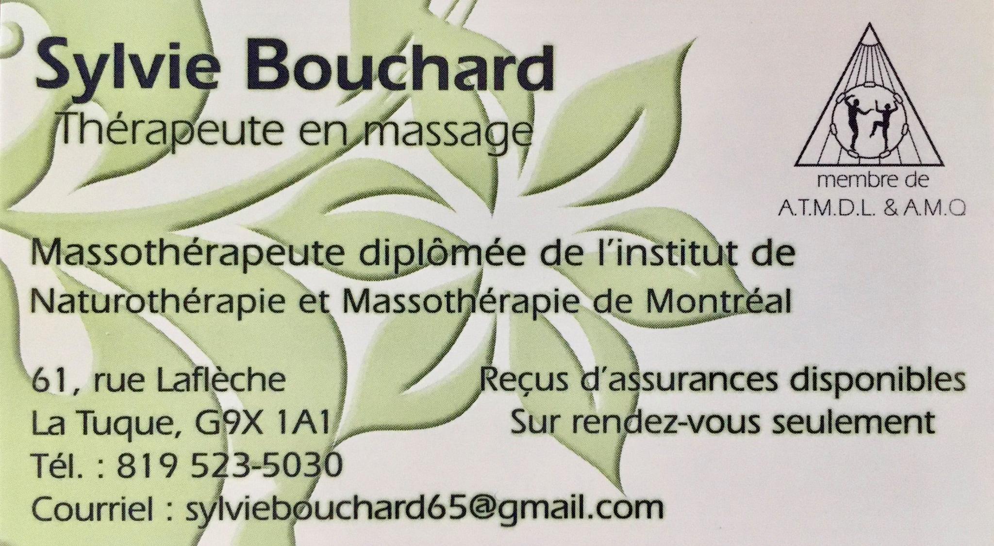 Sylvie Bouchard, massothérapeute